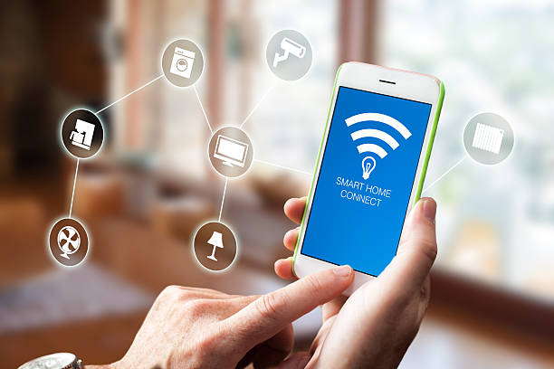 Smart Home Device - Home Control stock photo