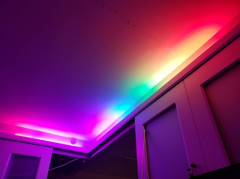 Colorful lighting accents
