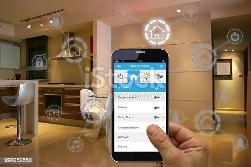 Smart home mobile application internet technology