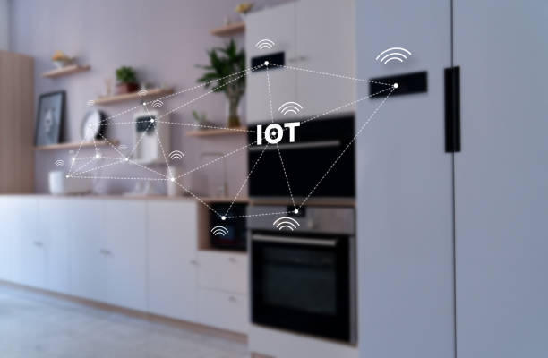 smart home, operating system concept of future. stock photo