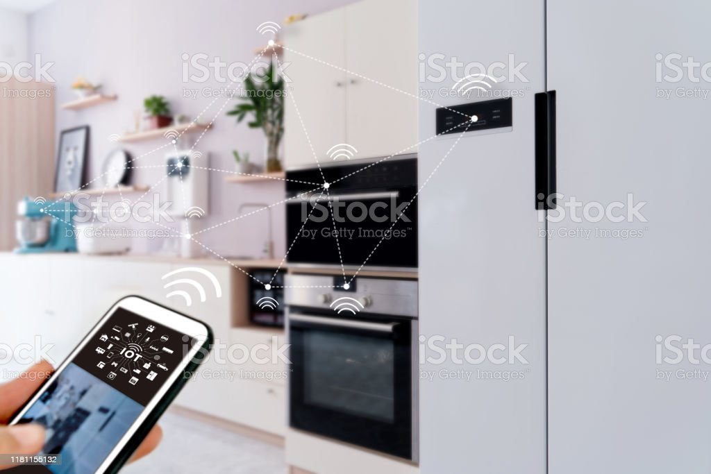 smart home, operating system concept of future. smart home, operating system concept of future. 5G Stock Photo
