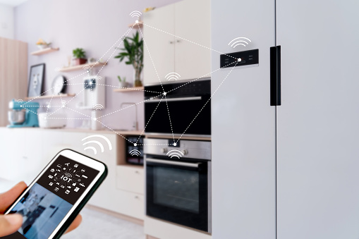 Smart Home Operating System Concept Of Future Stock Photo - Download Image Now