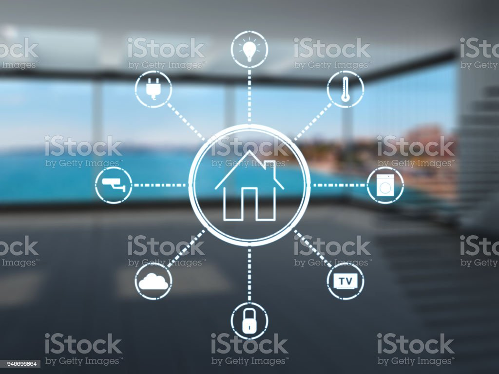 Smart home stock photo