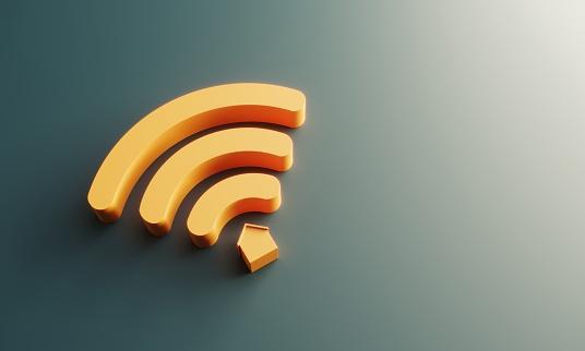 Smart home symbol, flat lay. (3d render)