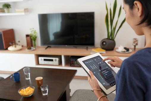 Smart Home System - Fotografie stock e altre immagini di Adulto