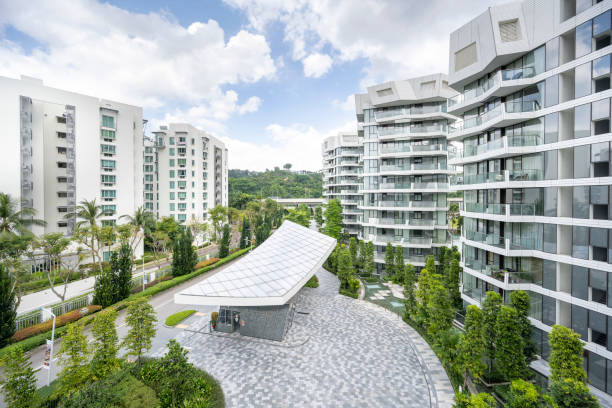 Smart homes in Singapore stock photo