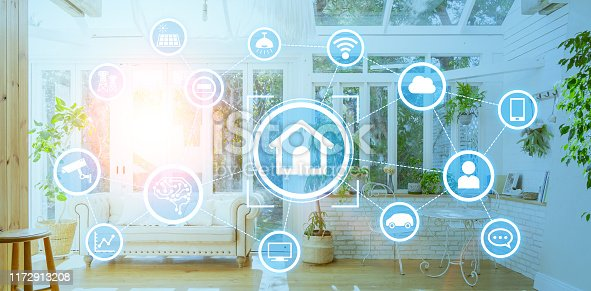 1019164310istockphoto Smart house concept. Home automation. 1172913208