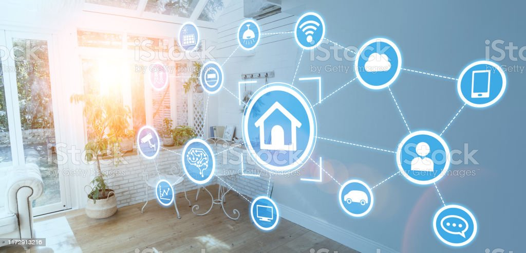 Smart house concept. Home automation. - Royalty-free 5G Stock Photo