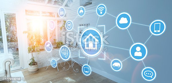 1019164310istockphoto Smart house concept. Home automation. 1172913216