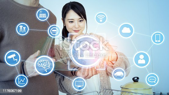 1019164310istockphoto Smart house concept. Home automation. 1176067199