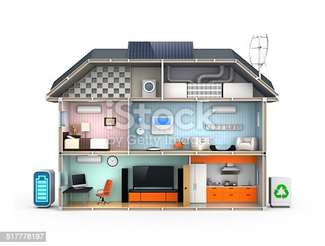 istock Smart house with energy efficient appliances 517778197