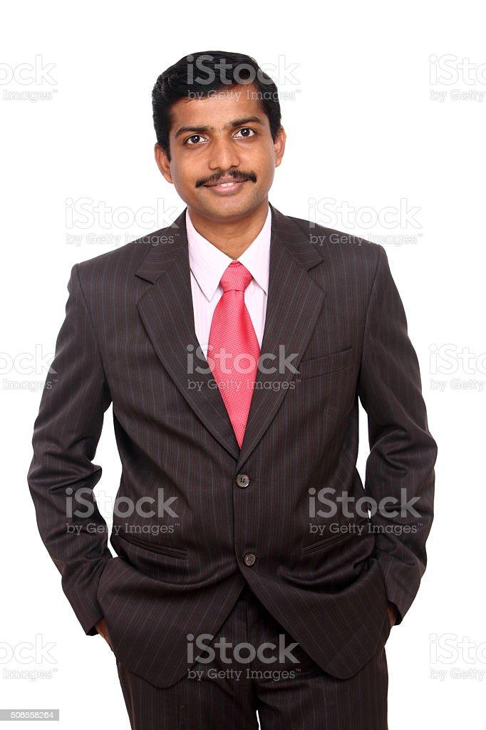 Smart Indian business man stock photo