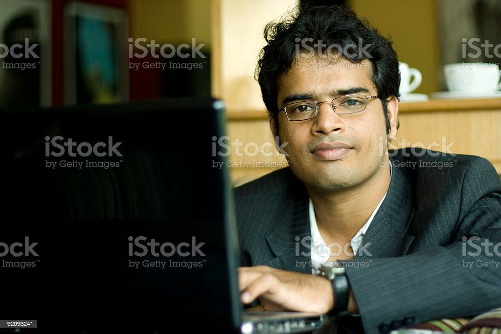 Smart Indian Businessman Working royalty-free stock photo