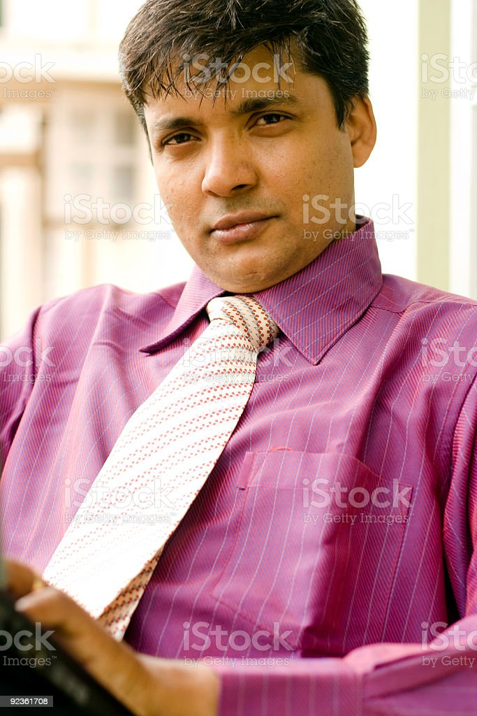 Smart Indian Office Worker royalty-free stock photo