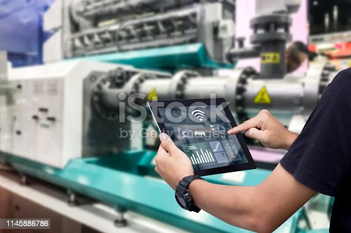 1150202727 istock photo Smart industry control concept. 1145886786