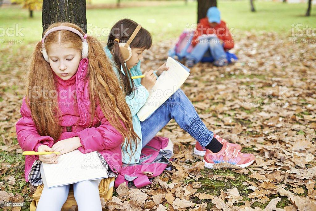 Smart kids royalty-free stock photo