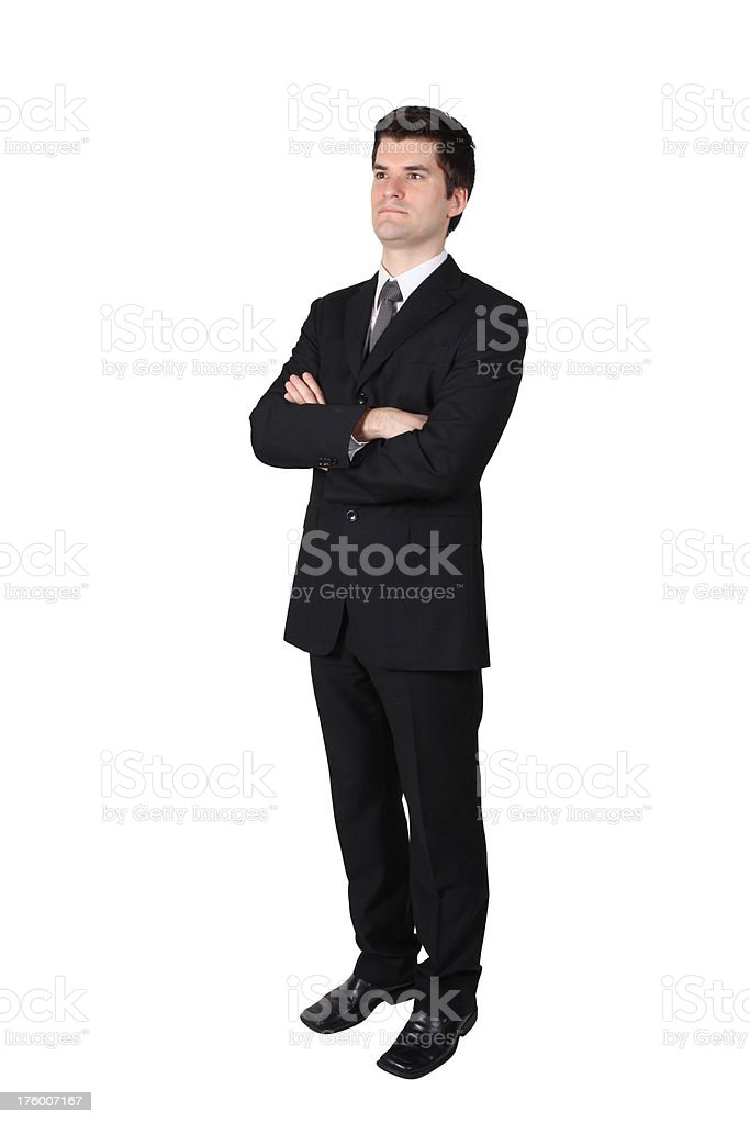 Smart looking business man folding arms royalty-free stock photo