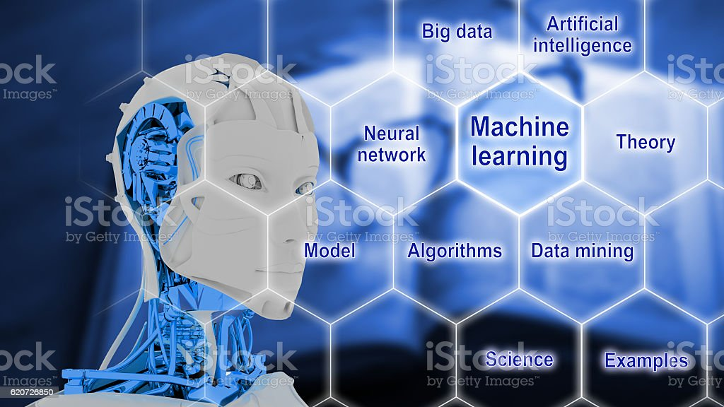 Smart machines artificial intelligence concept stock photo