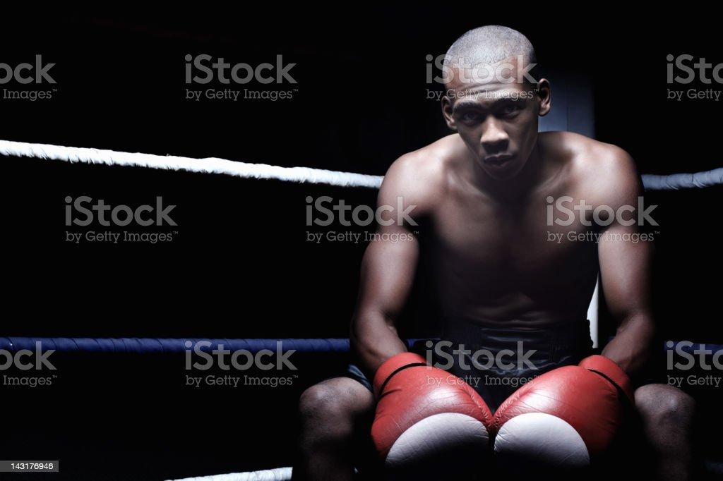 Smart male boxer royalty-free stock photo