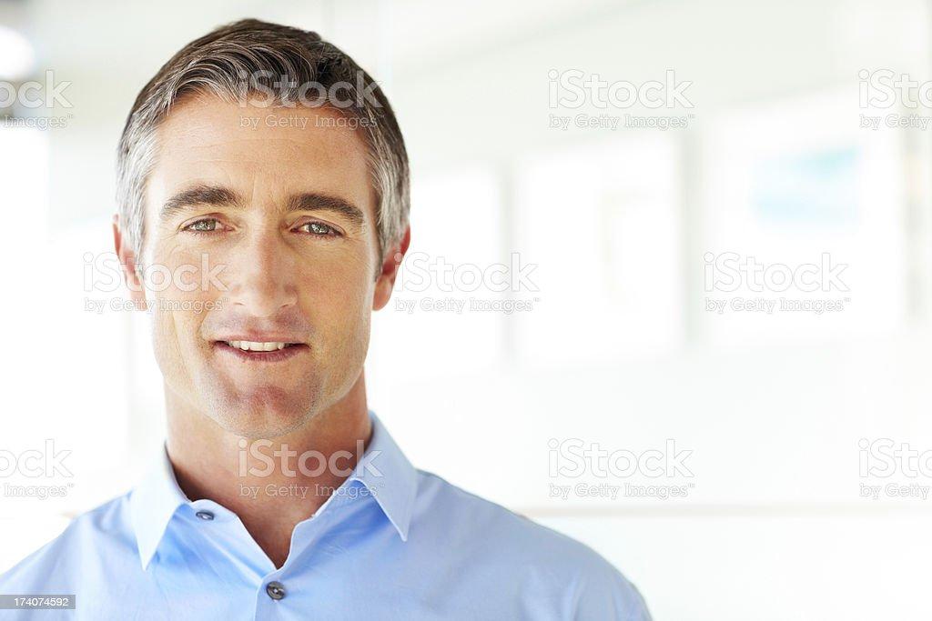 Smart Male Professional Portrait of smart mature male professional smiling. Horizontal shot. 50-59 Years Stock Photo