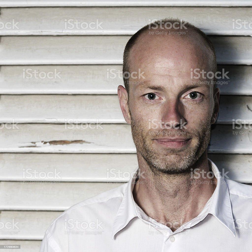 smart man portrai royalty-free stock photo