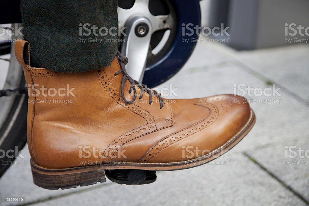 Smart men's leather shoe stock photo