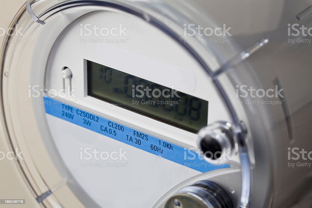 Smart Meter - Electrical stock photo