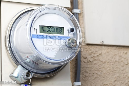 Smart meter on wall of home. CLICK TO SEE MORE!