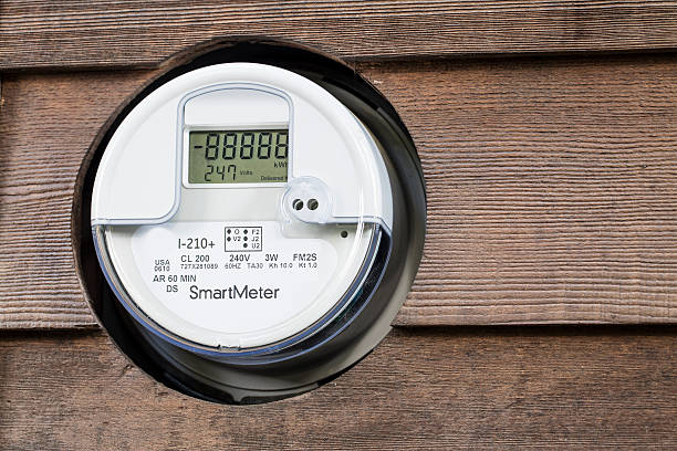 smart meter-steckdosen - messgerät stock-fotos und bilder