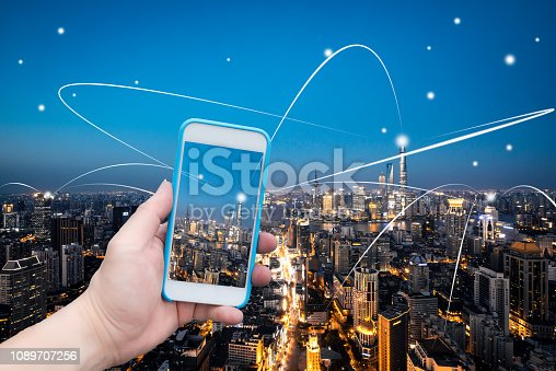 620974266 istock photo Smart Mobile Technology of Shanghai 1089707256