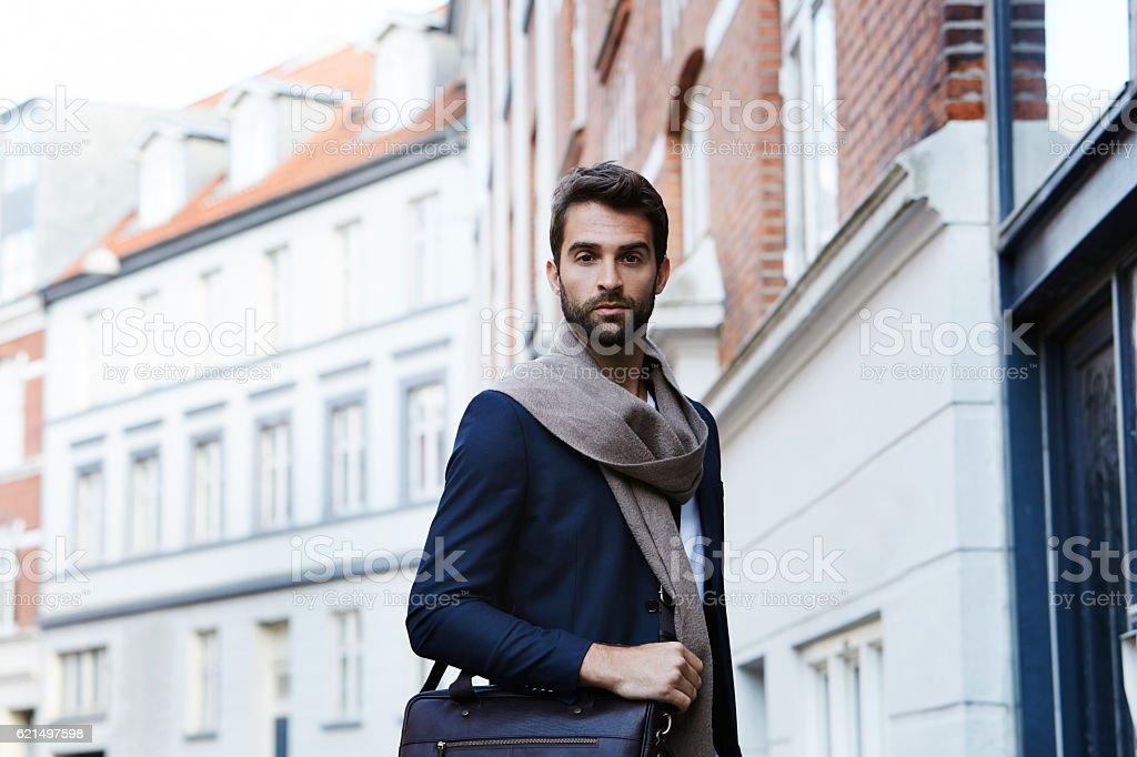 Smart model in scarf and blazer, portrait foto stock royalty-free