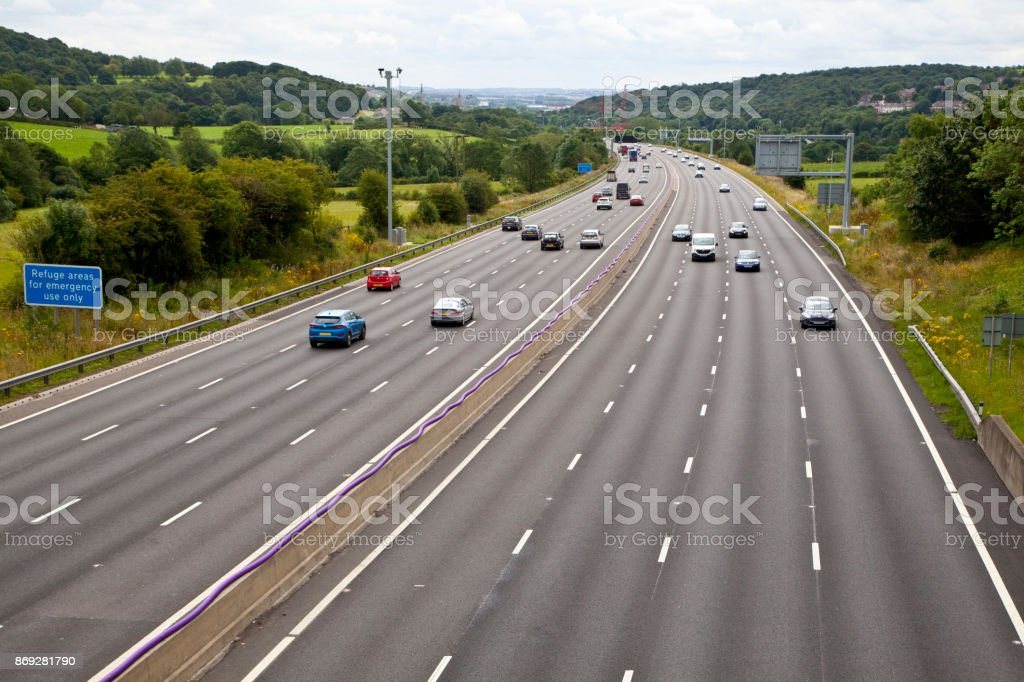 Smart Motorway stock photo