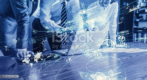1154261912 istock photo Smart office concept. 1127070129