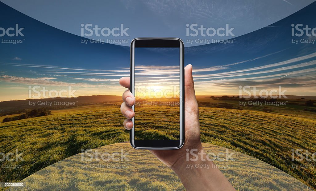 Smart phone 360 view stock photo