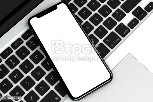 istock Smart Phone and Laptop, Technology Concept. 1070357012