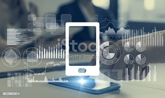 istock Smart phone and mobile app concept. 952980924