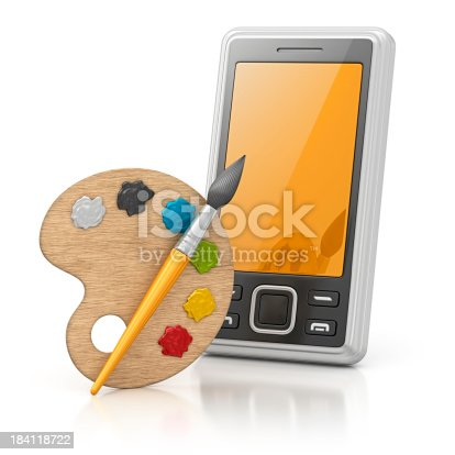 493201681 istock photo smart phone and palette 184118722