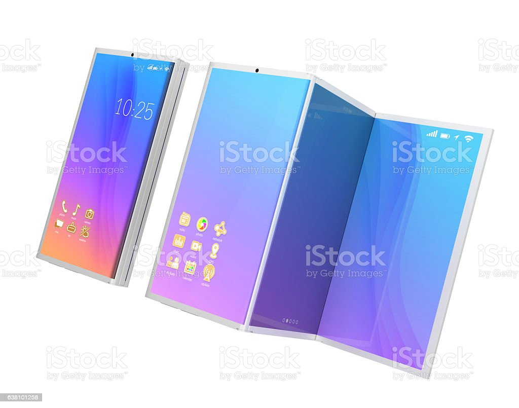 Smart phone and tablet PC stock photo