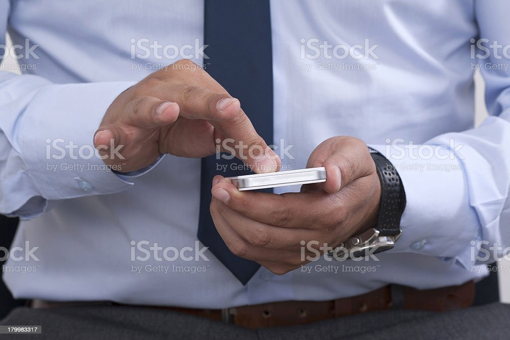 Smart phone and zooming stock photo
