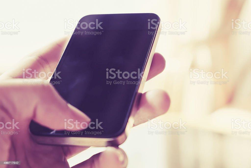 Smart Phone background stock photo