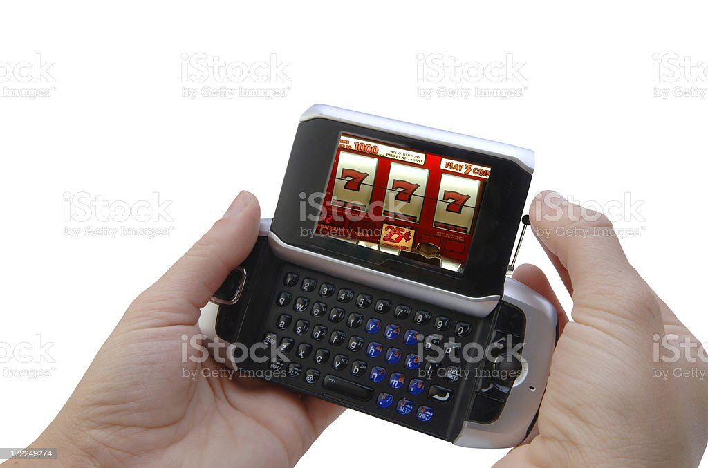 Smart Phone Gambling royalty-free stock photo