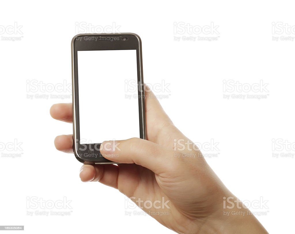 smart phone in hand royalty-free stock photo