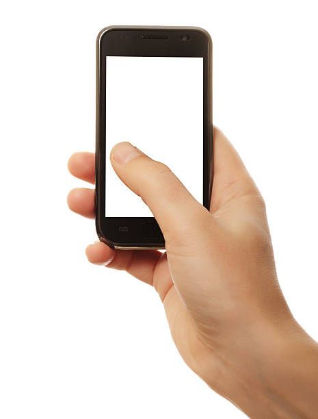 smart phone in hand - thumb stock photos and pictures