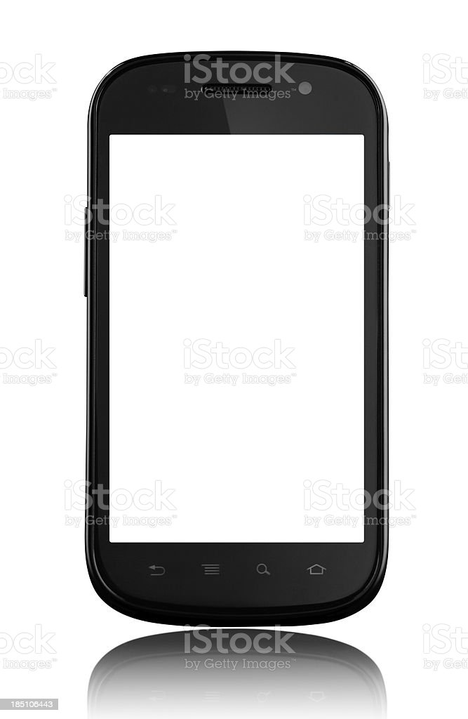 Smart phone isolated on white royalty-free stock photo