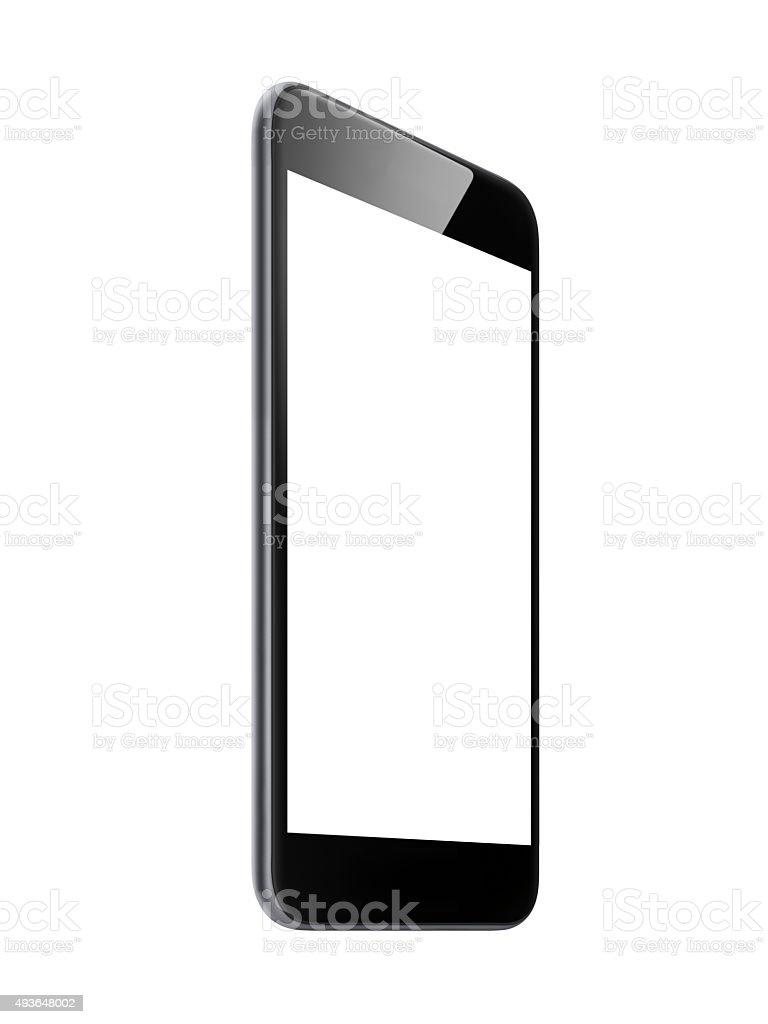 Smart phone isolated screen stock photo
