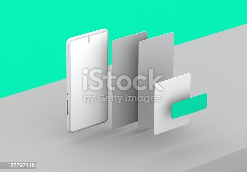 474953508 istock photo Smart phone mock-up 1187797418