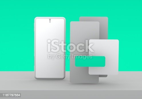 474953508 istock photo Smart phone mock-up 1187797554