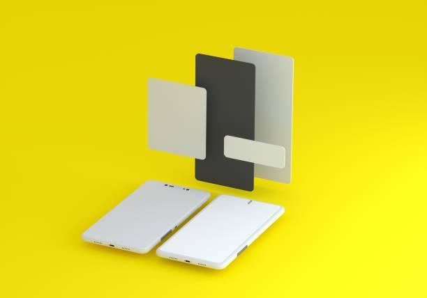 Smart phone mock-up stock photo
