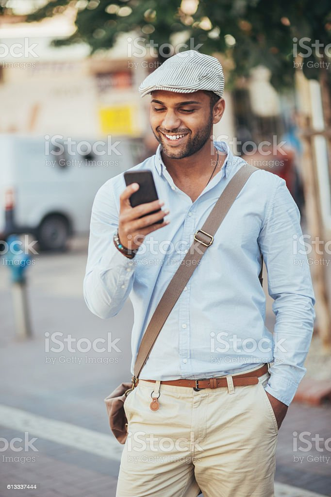 Smart phone networking stock photo