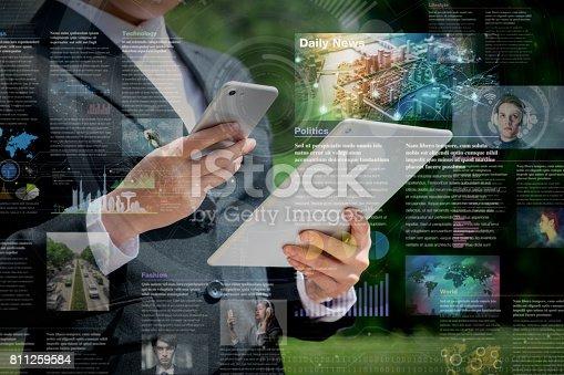 istock smart phone news application concept 811259584